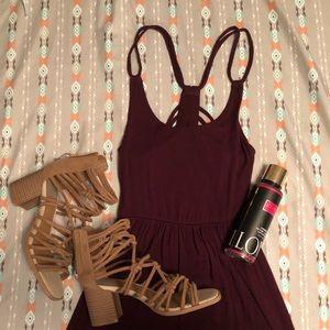 Burgundy Sun Dress